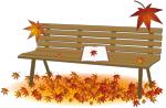 秋のベンチイラスト