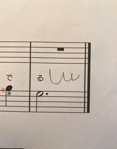 楽譜に書き込み